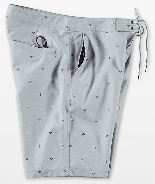 Free World Surfrider Light Grey Hybrid Shorts