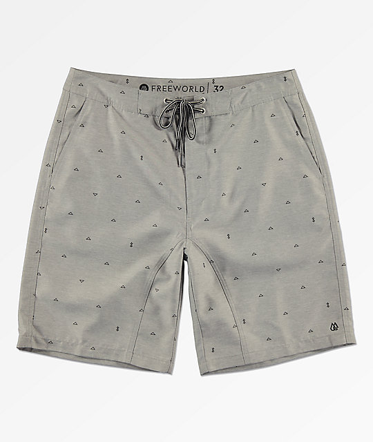 Free World Surfrider shorts híbridos grises