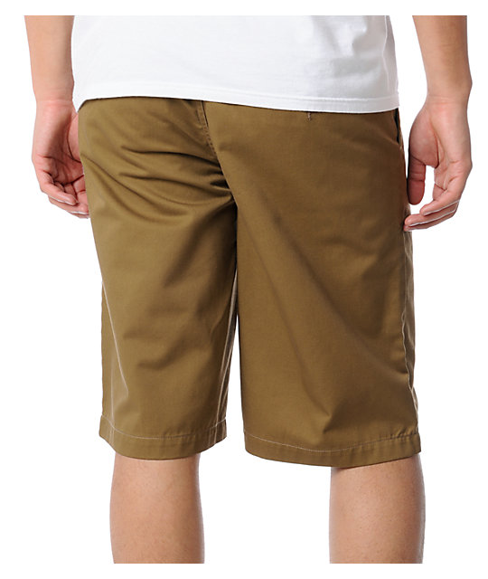 Free World Threat Dark Khaki Chino Short