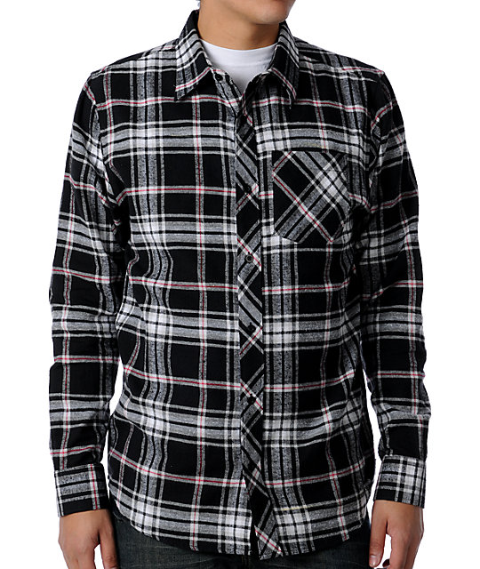 Free World Vacancy Black & Red Flannel Shirt