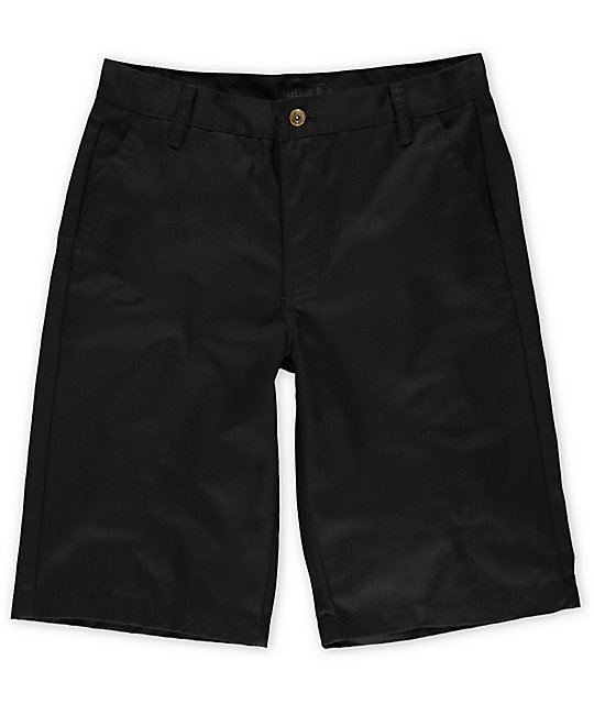 Free World Venice Black Chino Short