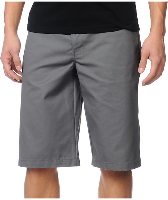 Free World Venice Grey Chino Shorts