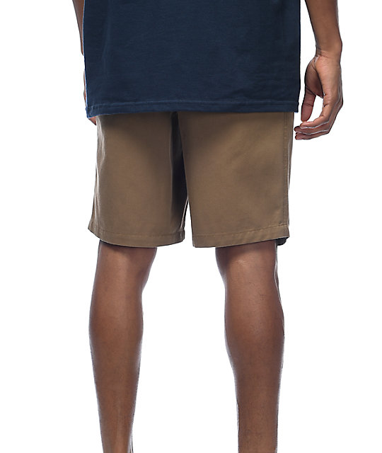 Free World Walker Dark Khaki Chino Shorts