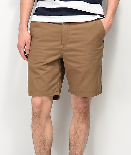 Free World Walker shorts chinos en caqui claro