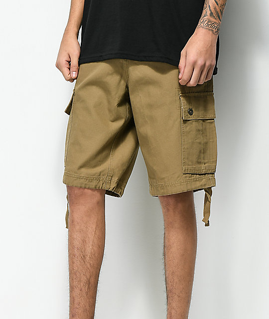 Free World Wreckage shorts cargo en caqui oscuro