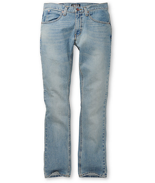 Free World Zeke Fit Light Blue Super Skinny Jeans