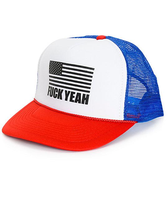 af5e88baa4ddd Freedom Artists Fuck Yeah Trucker Hat
