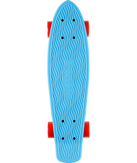 "Freeride Blue 22.5""  Recycled Mini Complete Cruiser Skateboard"