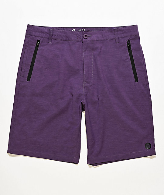 Freeworld Classified Purple Hybrid Shorts