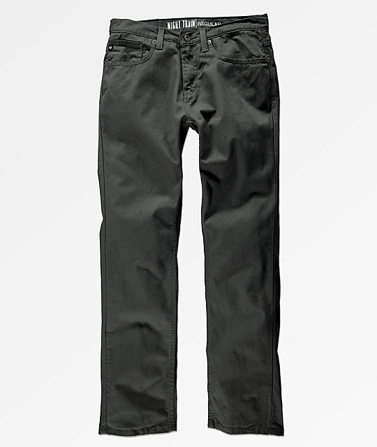 Freeworld Night Train 5 Pocket Charcoal Twill Pants