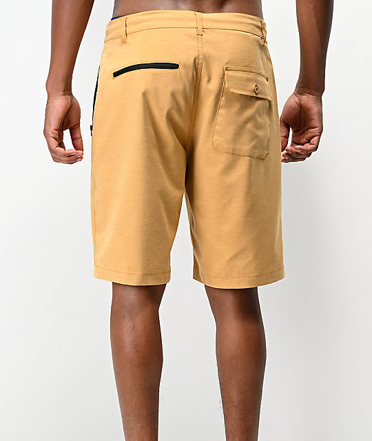 Freeworld Ultraist Yellow Tech Hybrid Shorts