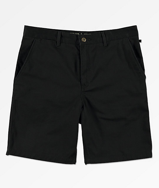 Freeworld Walker All Black Chino Shorts