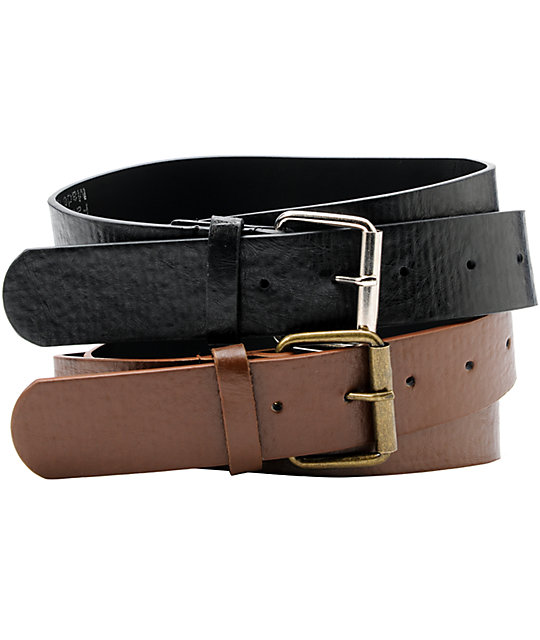 French Craft 2-For-1 Black & Brown Belts
