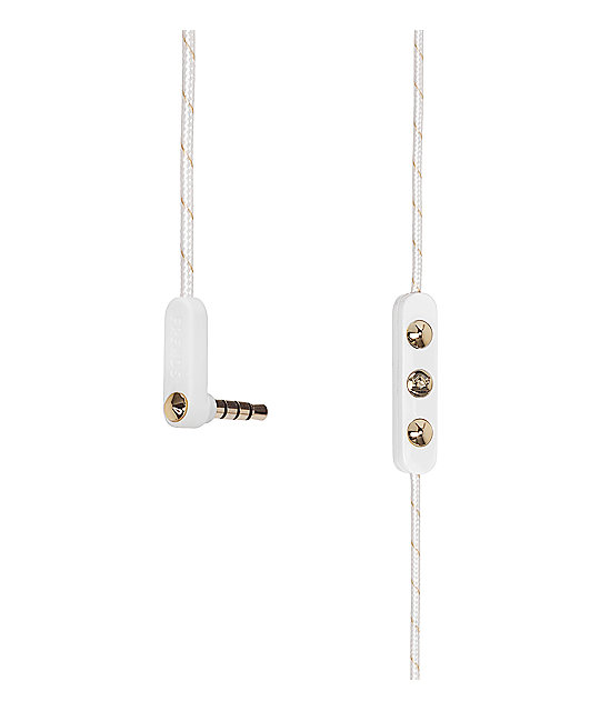 Frends Ella B Gold & White Earbuds