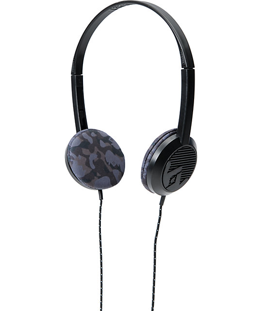 Frends The Alli Black & Camo Micd Headphones
