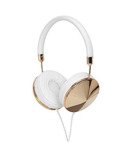 Frends The Taylor Gold & White Over Ear Headphones