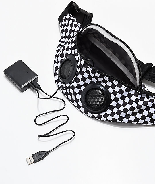 Fydelity Bluetooth Black & White Checkered Fanny Pack