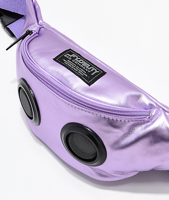 Fydelity Bluetooth Purple Fanny Pack