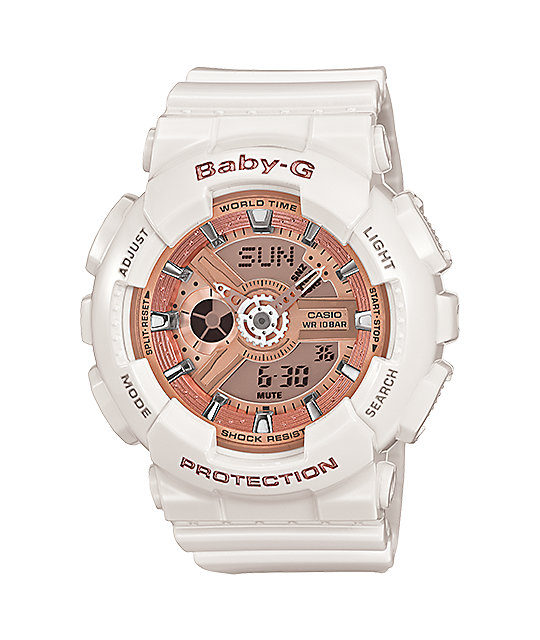 G Shock Ba110 7a1 Black Gold Baby G Digital Watch