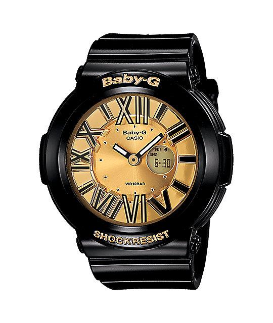 G Shock Bga160 1b Baby G Black Amp Gold Watch Zumiez