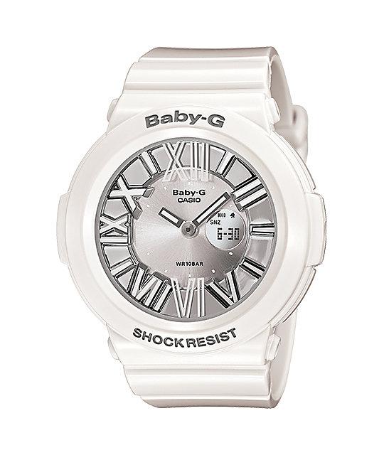 G Shock Bga160 7b1 Baby G White Watch Zumiez