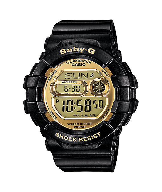 G Shock Bgd141 1 Baby G 3d Protection Black Gold Watch