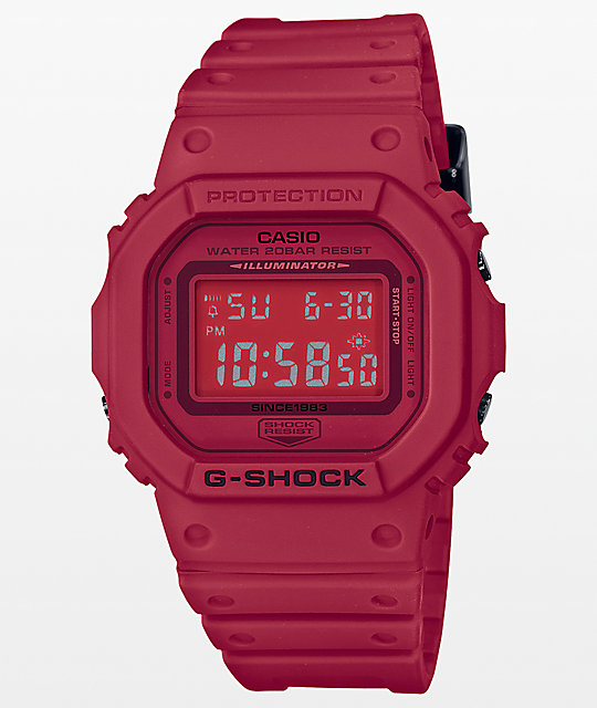 G-Shock DW-5600 Red Out Series Digital Watch  9939dc58c3