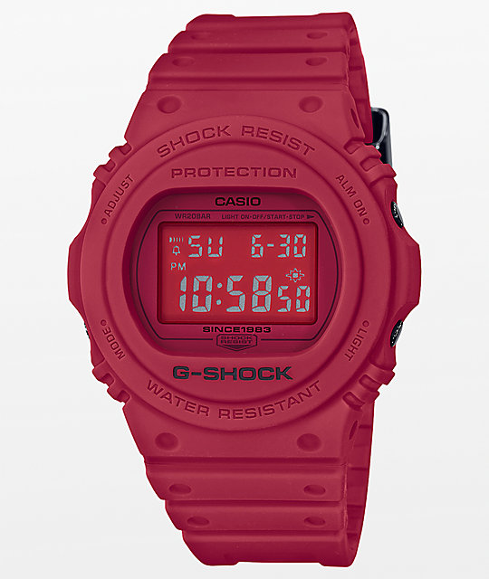 G-Shock DW-5700 Red Out Series Digital Watch