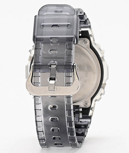 G-Shock DW5600 Clear & Dark Grey Digital Watch