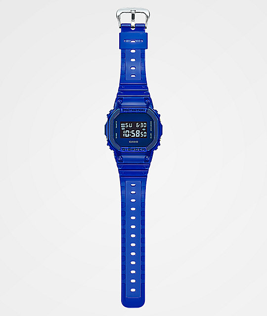 G-Shock DW5600 Clear Blue Digital Watch