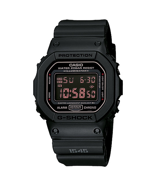 G-Shock DW5600MS-1 Classic Military Black Watch