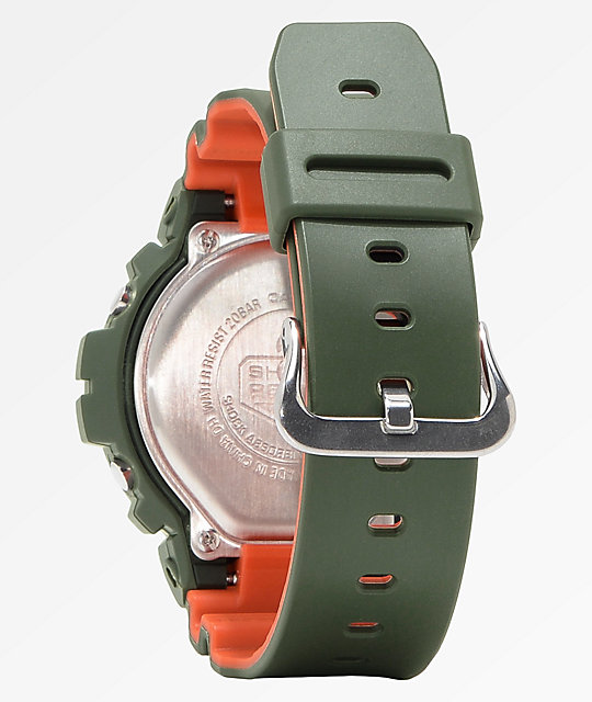 G-Shock DW6900 Stealth reloj digital verde