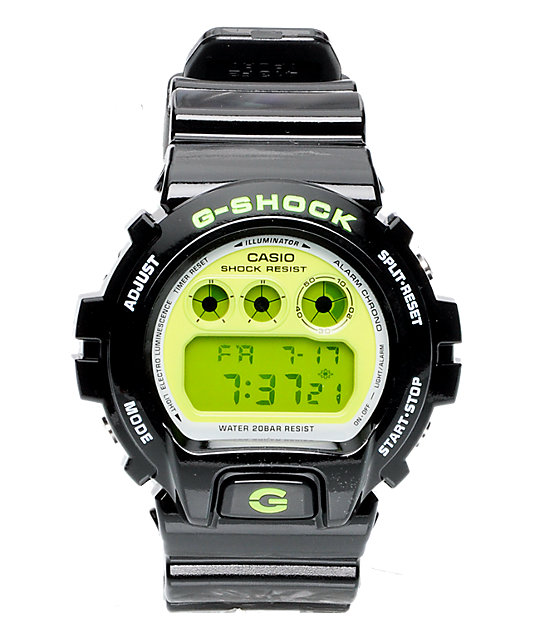 G-Shock DW6900CS-1CR Black & Lime Digital Watch