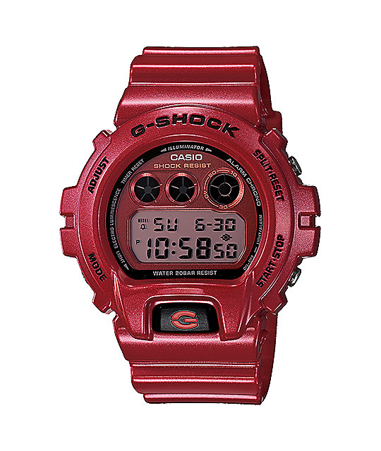 G-Shock DW6900MF-4 Metallic Finish Red Watch
