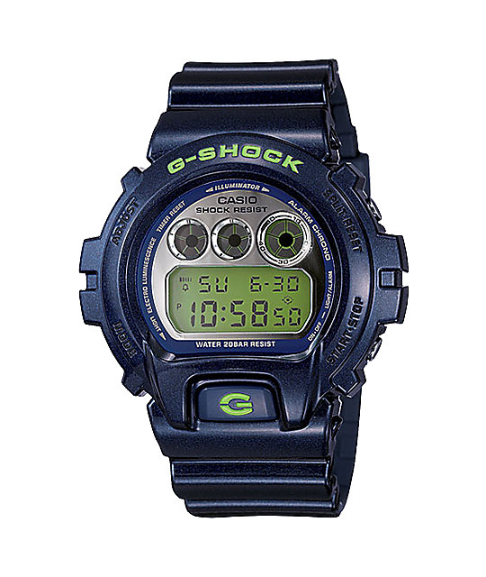 G-Shock DW6900SB-2 Navy Mirror Metallic Ltd Edition Digital Watch