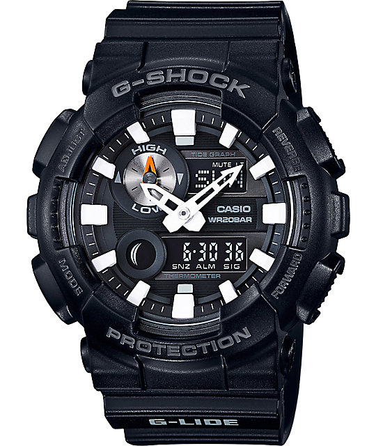G-Shock G-Lide GAX100B-1A Black Analog & Digital Watch