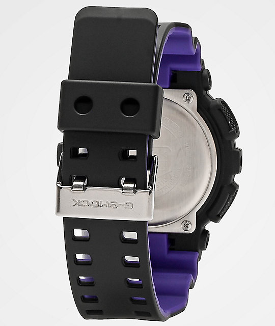 G-Shock GA100 90's Retro Sport Black & Purple Watch