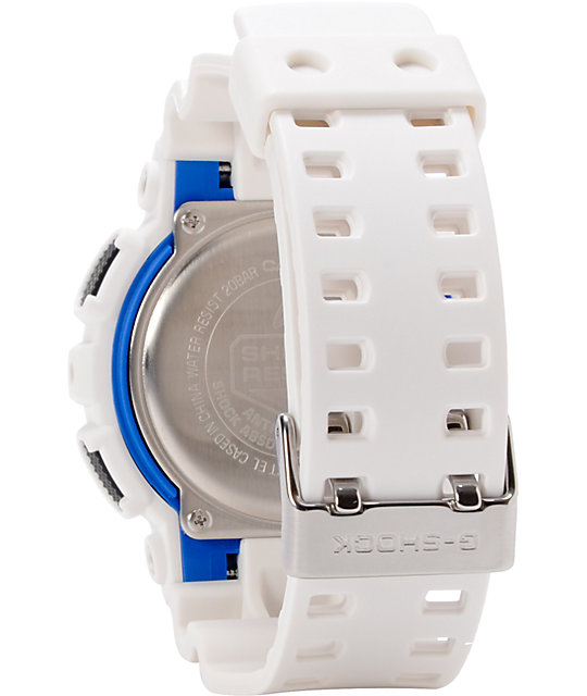 G-Shock GA100B-7A White & Black Mens Digital Watch