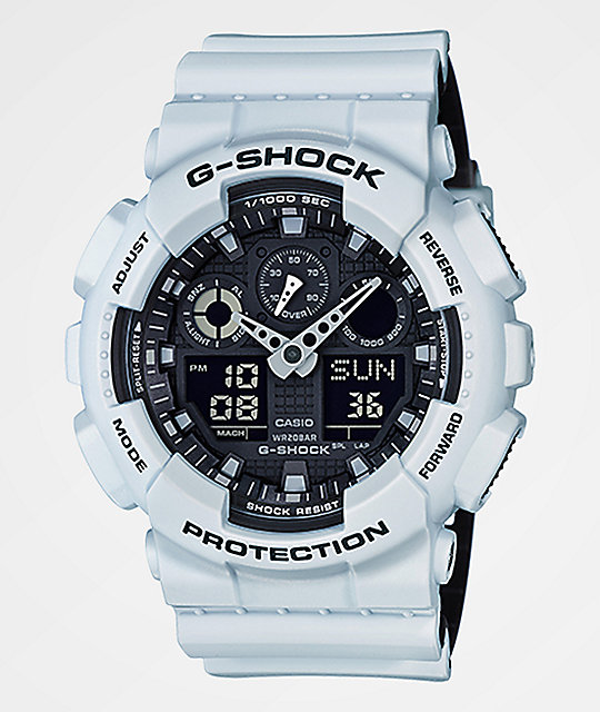 G Shock Ga100l 7a Military White Layered Watch