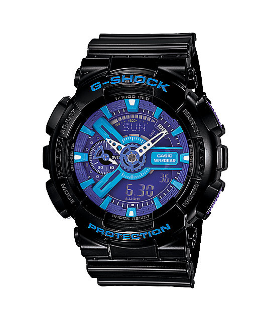 G-Shock GA110-HC-1A Hyper Color Black, Blue & Purple Limited Edition Watch