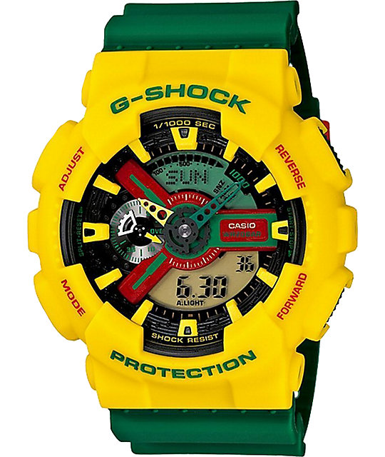 G-Shock GA110RF-9A Digital & Analog Rasta Watch