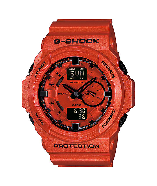 G-Shock GA150A-4A Metallic Orange Watch