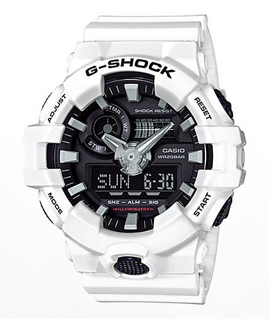 G shock ga700 7a white black watch zumiez for Watches zumiez