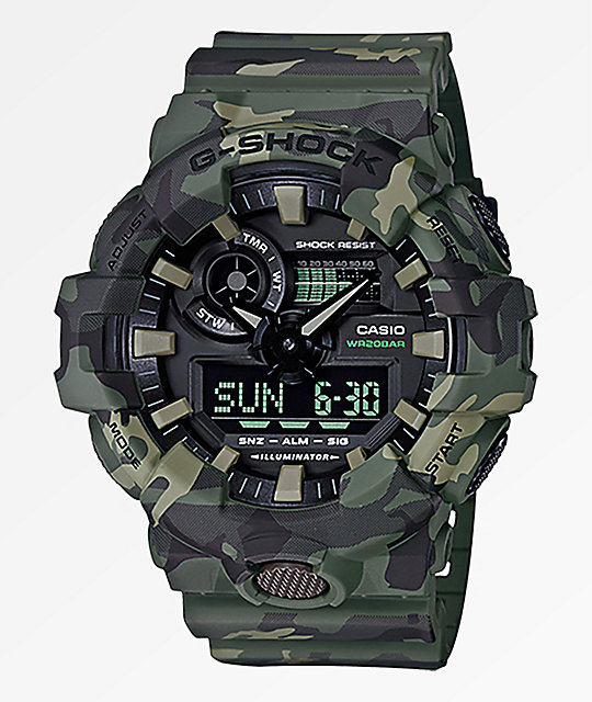 G-Shock GA700 Green Camo Watch
