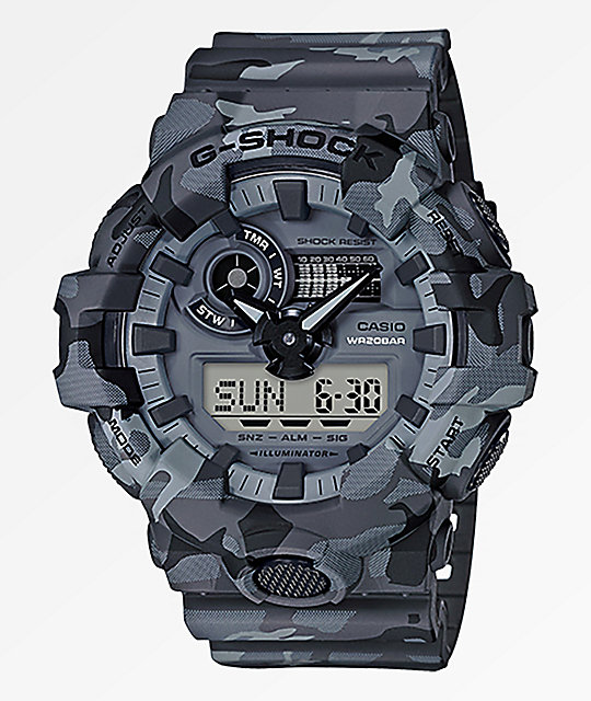 G-Shock GA700 Grey Camo Watch