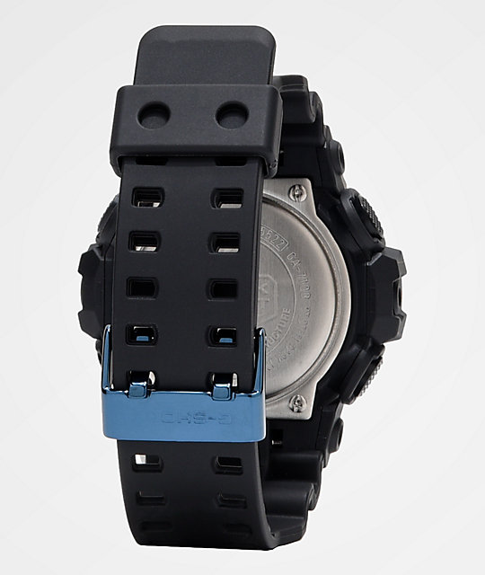 G-Shock GA710 Black & Metallic Blue Watch