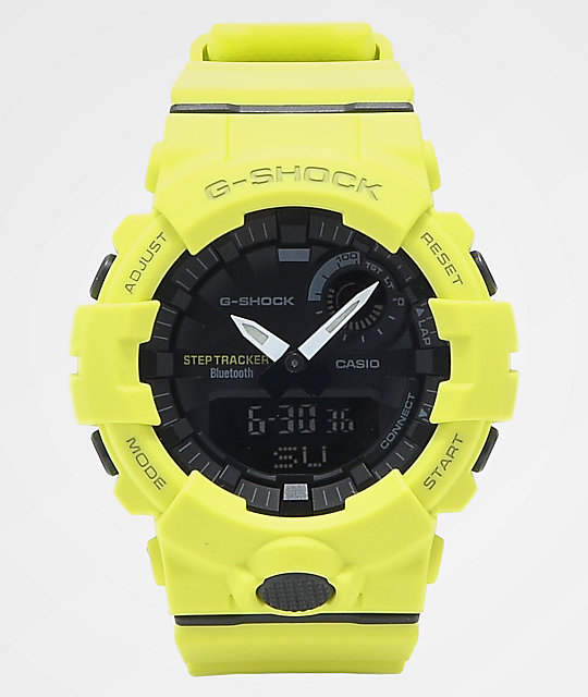 G-Shock GBA-800 Neon Yellow & Black Watch