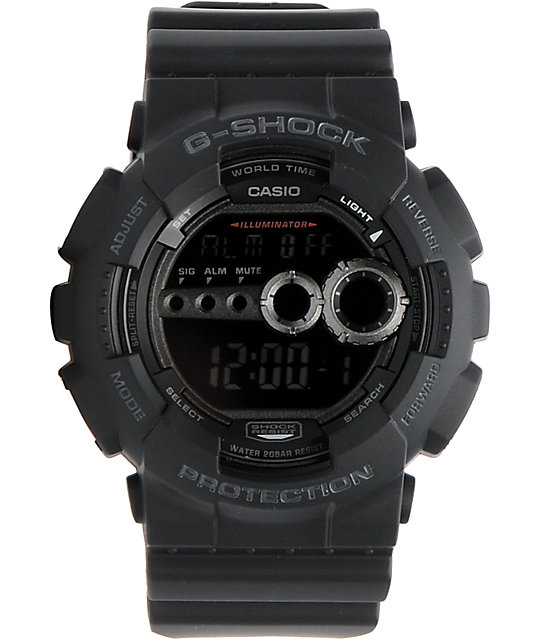 G-Shock GD100-1A X-Large Military Black Digital Watch