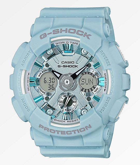 ac779094945 G-Shock GMAS120 Light Blue Watch | Zumiez