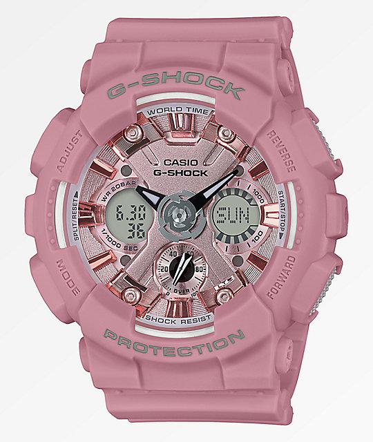 G shock gmas120 light pink watch zumiez for Watches zumiez